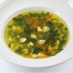 Куриный суп со шпинатом (ВТОРНИК)