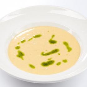 Сельскиий крем-суп с курицей и гренками(СРЕДА)