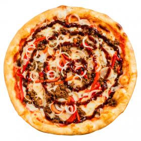 """Пицца """"Биф Барбекю"""" с пышным краем"""